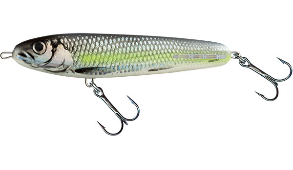 SWEEPER SINKING - 10cm Silver Chartreuse Shad