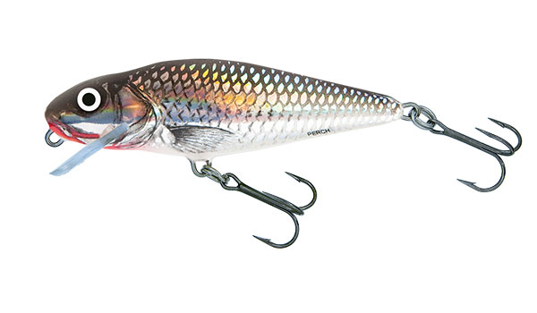 PERCH SHALLOW RUNNER - 12cm Holographic Grey Shiner