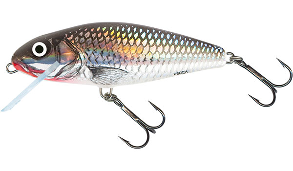 PERCH FLOATING - 12cm Holo Grey Shiner