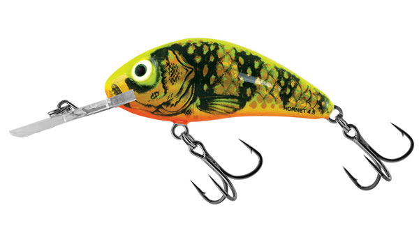 RATTLIN HORNET FLOATING - 4.5cm Gold Fluo Perch