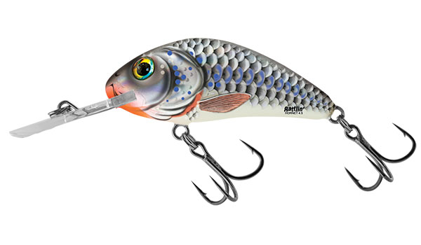RATTLIN HORNET FLOATING - 4.5cm Silver Holo Shad