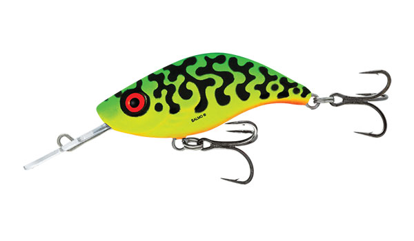 SPARKY SHAD SINKING - 4cm Green Tiger