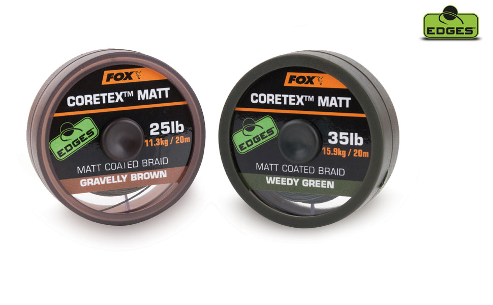 FOX Stužená šnúra - EDGES™ Coretex™ Matt Weedy Green - 20lb, 20m