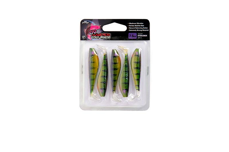 """Zander Pro Ultra UV Single Colour Packs Zander Pro Ultra UV 7.5cm/3"""" Sticklback x 5pc"""
