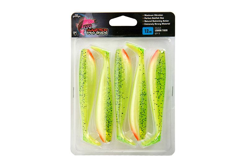 """Zander Pro Ultra UV Single Colour Packs Zander Pro Ultra UV 12cm/4.75"""" Lemontiger x 5pc"""
