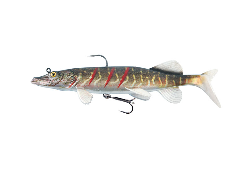 """Replicant® Realistic Pike 15cm 6"""" 35g Supernatural Wounded Pike"""