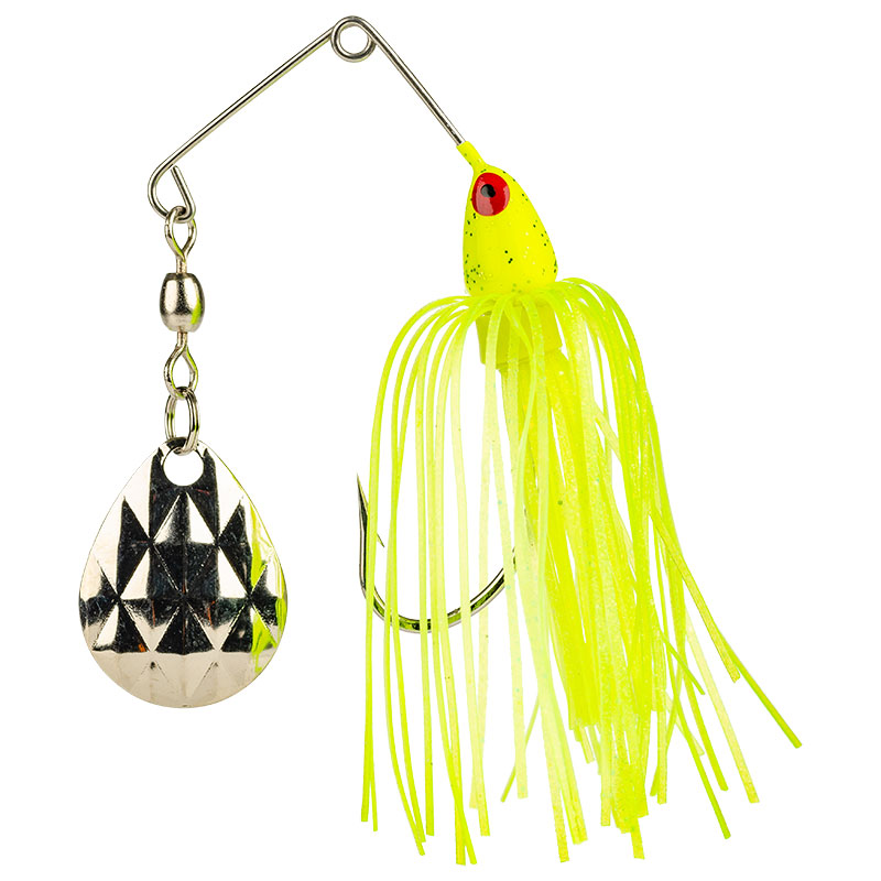 Mini-King Spinnerbait Chartreuse Head Chartreuse Skirt - 3.5g