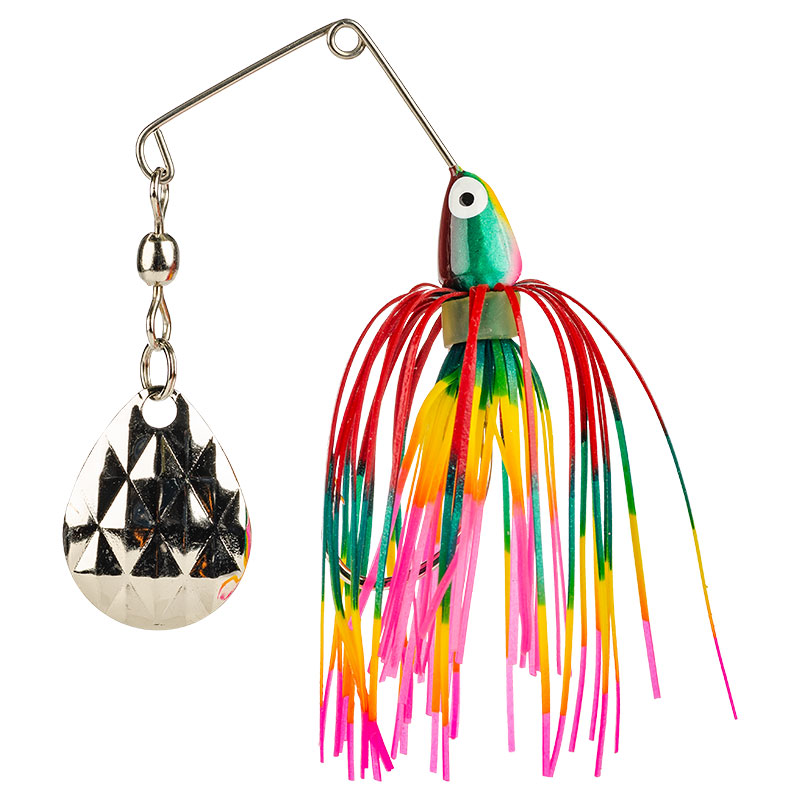Mini-King Spinnerbait Red Yellow Pink Green - 3.5g