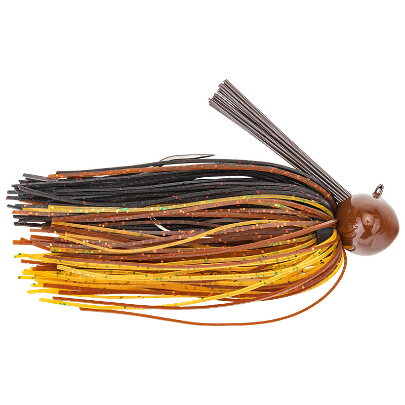 Tour Grade Football Jig Black Brown Amber - 21.3g
