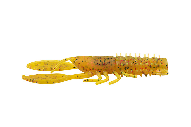 "Ultra UV Floating Creatures  Rage Creature Crayfish 7cm/2.75"" UV Golden Glitter x 6pcs"