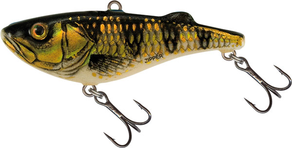 ZIPPER SINKING - 4cm Gold Red Perch
