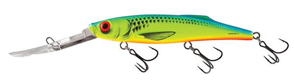 FREEDIVER SUPER DEEP RUNNER - 12cm Chartreuse Blue