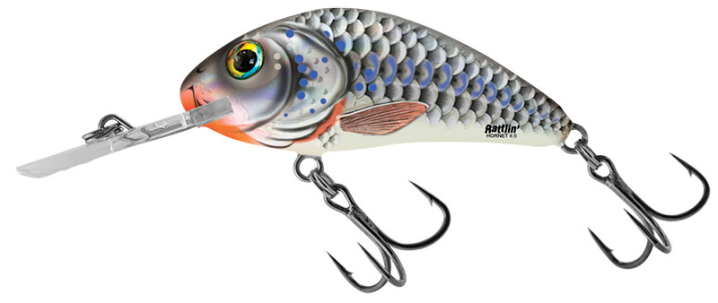 RATTLIN HORNET FLOATING - 5.5cm Silver Holographic Shad