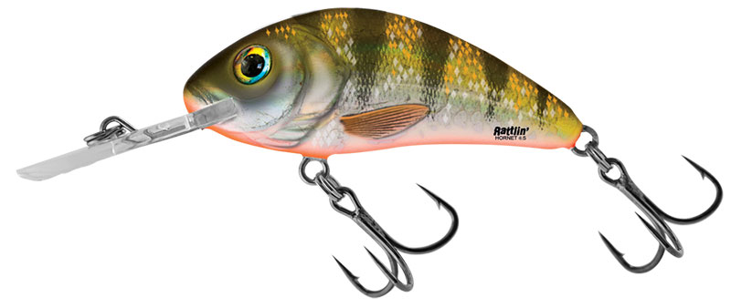 RATTLIN HORNET FLOATING - 5.5cm Yellow Holographic Perch
