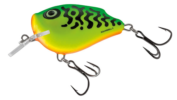 SQUAREBILL FLOATING - 6cm Green Tiger