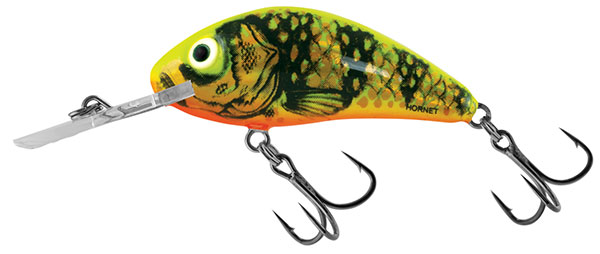 RATTLIN' HORNET FLOATING -  3.5cm Gold Fluo Perch