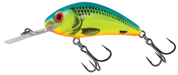 RATTLIN' HORNET FLOATING -  3.5cm Chartreuse Blue