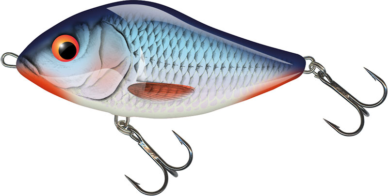 SLIDER FLOATING - 10cm Bleeding Blue Shad