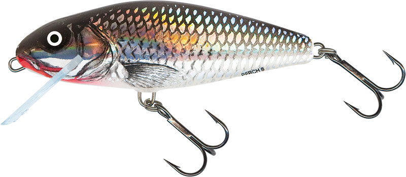PERCH FLOATING - 14cm HOLOGRAPHIC GREY SHINER