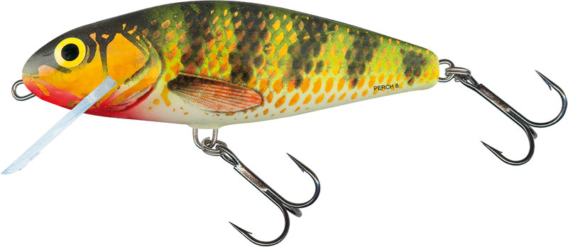 PERCH SHALLOW RUNNER - 14cm HOLOGRAPHIC PERCH