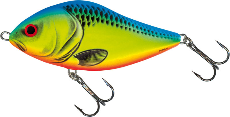 SLIDER FLOATING - 12cm Chartreuse Blue