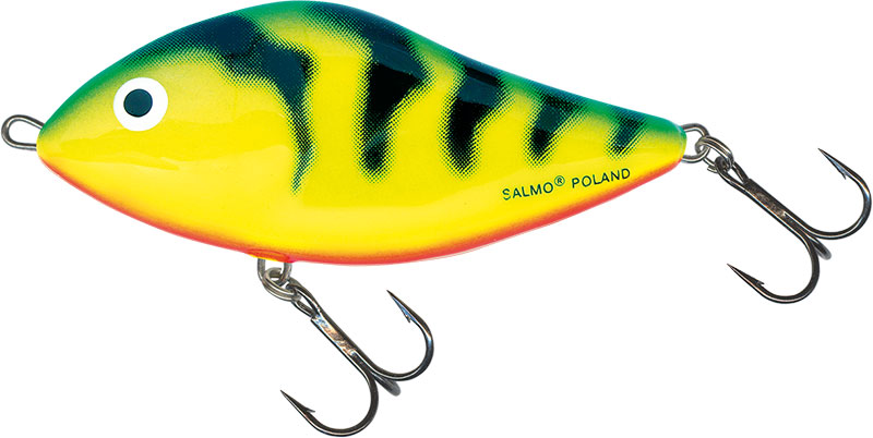 SLIDER FLOATING - 6cm GREEN TIGER
