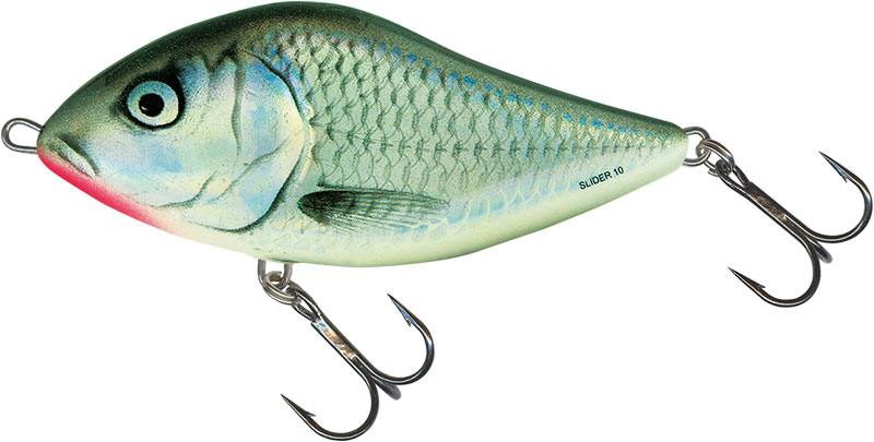 SLIDER FLOATING - 12cm HOLOGRAPHIC GREY SHINER