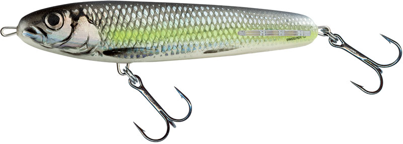 SWEEPER SINKING - 12cm Silver Chartreuse Shad