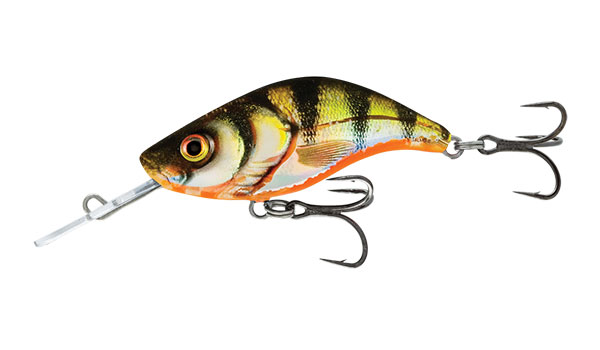 Sparky Shad 4 Sinking Yellow Holographic Perch