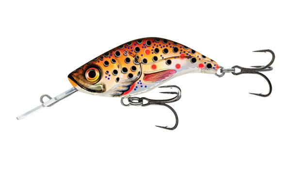 Sparky Shad 4 Sinking Brown Holo Trout