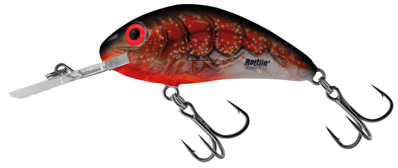 Rattlin Hornet Clear 4.5 Floating Clear Bleeding Craw