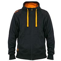 Black Orange LW zipped hoodie  XL